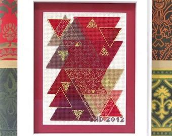 Geometric Triangles Cross Stitch and Needlepoint Pattern PDF