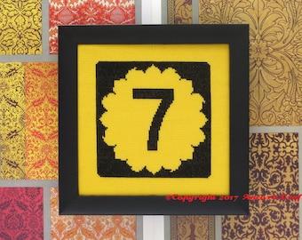 Kansas Cross Stitch Kit - Sunflower Road Sign
