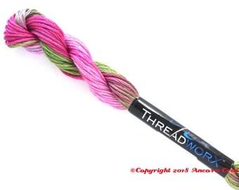 Variegated Embroidery Floss ThreadworX 11011 Hydrangea