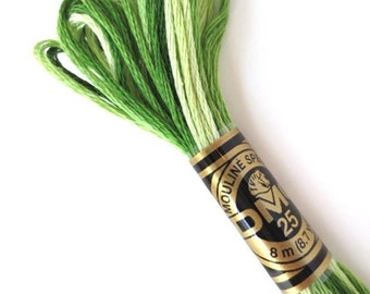 DMC 92 Variegated 6 Strand Floss Green Shaded Ombre