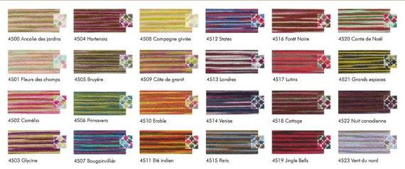 Embroidery Floss 8m Multi Colour 4523 VENT DU NORD DMC Coloris Thread