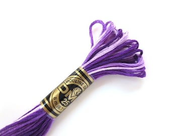 DMC 52 Variegated 6 Strand Floss Violet Shaded Ombre
