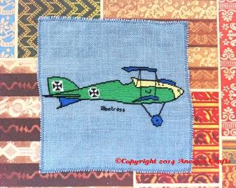 Albatross Airplane Cross Stitch Kit
