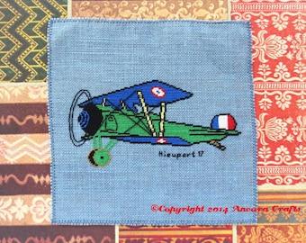 Nieuport 17 WWI Airplane Cross Stitch Pattern PDF