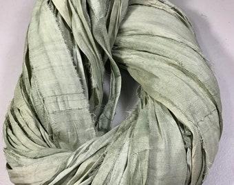 10 yd Sari Silk Ribbon Rustic Burgundy Brown Mix Tassel Dreamcatcher Free Shipping Jewelry Fair Trade Fiber Art Supply