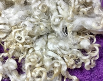 1 oz Lincoln Wool Locks Animal Sanctuary White Natural Doll Hair Fairy Troll Elf Hair Free Combined Ship Spinning Craft Fiber  Supply