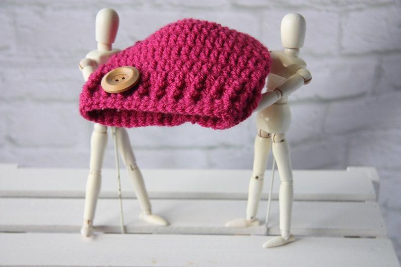 shower or christening gift for a newborn girl, beanie hat Crochet baby hat
