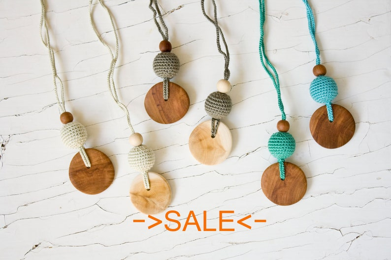SALE Pure Silk & Wood Teething Necklace  Nursing Necklace  image 0