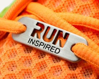 RUN Inspired Running Shoe Tag, ATHLETE INSPIRED, Running Inspiration, Run Shoe Charm, Gifts for Runners, Runner Gifts, Running Jewelry, run