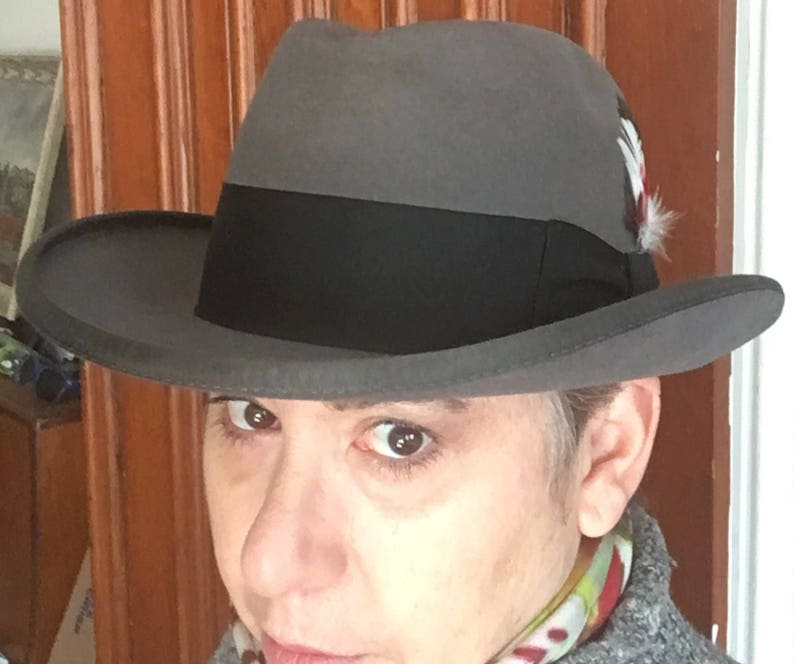 78ca498a3e214 Stetson Grey Homburg Godfather Hat Size 7