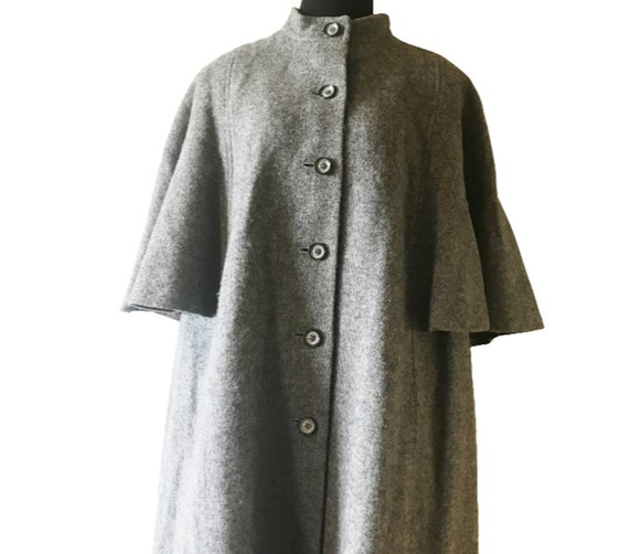 Avoca County Wicklow New Wool Grey Tweed Cape Coat