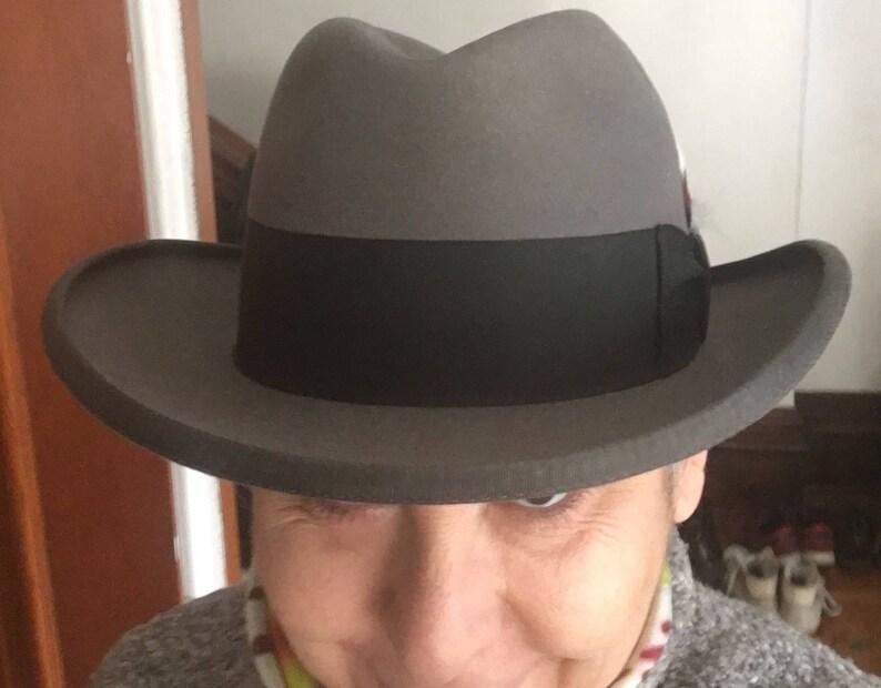 Stetson Grey Homburg Godfather Hat Size 7  800938517c5