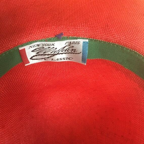 Vintage Red Straw Mr John Strut Your Stuff Wide B… - image 3