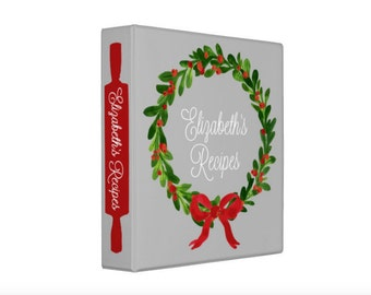 Personalized Christmas Wreath Recipe Binder