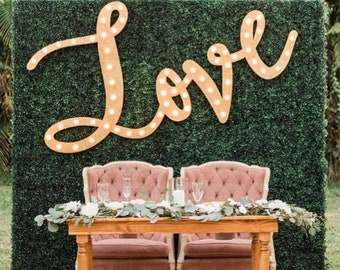 Marquee Sign Lighted Wood Sign 4pc Lighted Letters Marquee Letters Wedding Love Letters