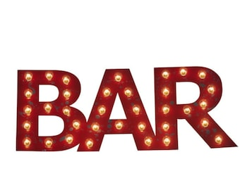Marquee Sign Marquee Letters Flat Metal Wood BAR Sign LOVE Eat Bbq Yum Bar Dream JOY Wish Custom Wedding Gift Restaurant