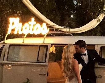 Marquee Sign Photos Sign Lighted Sign Metal or Wood Marquee Letters  Open Bar Custom.. Wedding Gift Anniversary Booth Bus Restaurant