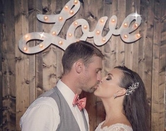 Marquee Sign Lighted Wood Custom Personalized Marquee Love Sign Letters... LOVE Play Open Bar Dream Custom.. Wedding Gift Vendor Restaurant