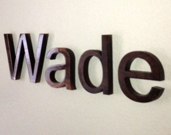 """Custom Wood Name Sign, Choose Your Font - 12"""" to 46"""" wide, Personalized Home decor, family name sign, baby name sign, nursery, wood sign"""