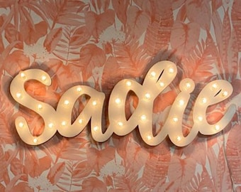 Marquee Sign Light Sign Personalized Wood ... LOVE Play Eat BBQ Open Yum Bar Dream Custom.. Wedding Gift Anniversary Vendor Restaurant