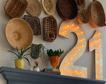 "36"" Marquee Letters Marquee Lighted Sign Letters Wood 21 In Stock.... 21st Birthday Party Decor"