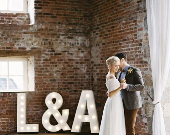 """FREE SHIPPING 36"""" Huge Old Vintage Style Marquee Letters Metal Steel..........Wedding A B C D E F G H I J K L M N O P Q R S T U V W X Y Z"""