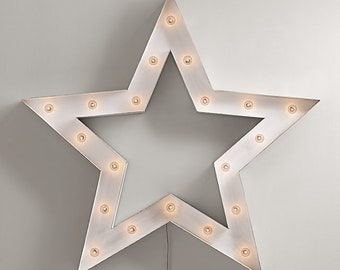 Marquee Sign Star LARGE Old Vintage Style Marquee Star Metal Steel...........       Wedding Birthday Home Logo Business Decor