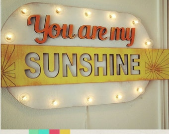Marquee Sign You are My Sunshine Wood Marquee …. Home Love Baby Nursery Wedding Anniversary Room