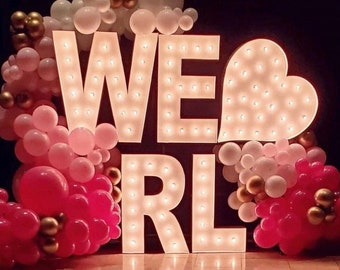 """24"""" Marquee Letters, marquee letter, light up letter, marquee letter, A B C D E F G H I J K L N O P Q R S T U V W X Y Z & 1 2 3 4 5 6 7 8 9"""