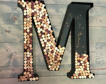"""14"""" to 36"""" Metal Channel Letters & Numbers...… Letter Outdoor Metal Christmas Gift Wine Corks Succulent Letter Wedding Home Decor Birthday"""