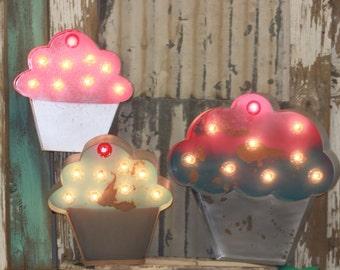 Marquee Sign Cupcake Marquee Vintage Style Metal Steel...........    Bakery Sign Cupcake Sign Sweet Birthday Cupcake Bar Fun Bakery