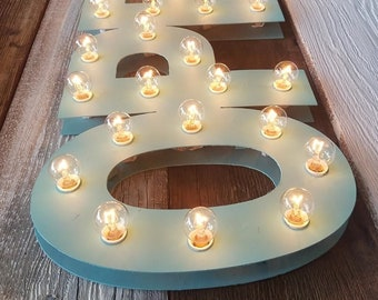 IN STOCK OPEN Sign Lighted Marquee Large Custom Vintage Inspired Wood Sign… Open Lighted Sign Business Boutique Vendor Event