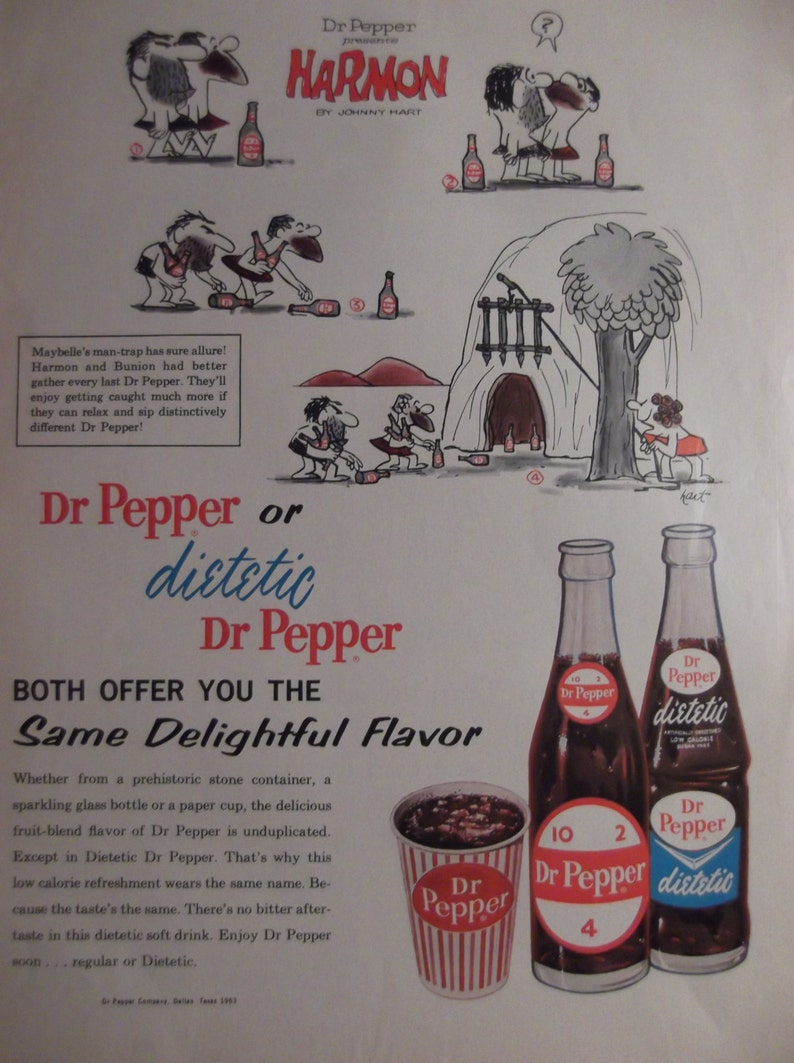 Dr Pepper Ad Kitchen Print Cafe Decor Restaurant Wall Art Etsy