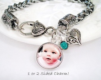 Custom Photo Bracelet Picture Bracelet for Grandmother Photo Gift Jewelry for Mom Photo Gift for Wife Custom Photo Charm Bracelet for Nana