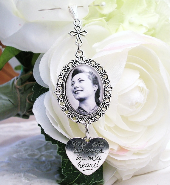 Bridal Bouquet Memory Photo Charm Wedding Bouquet Charm Etsy