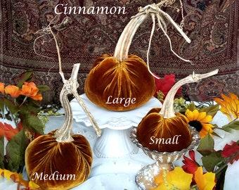 VELVET Pumpkins Real Stems MANY Colors Best Seller! Thanksgiving Table Centerpiece Fall Home Decor Hostess Gift Wedding Pumpkins
