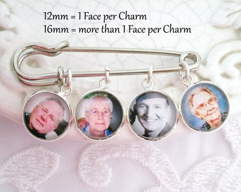 Photo Lapel Memory Pin Gift for Groom Boutonnière Wedding Gift Photo Memory Keepsake Sympathy Gift Memorial Charms Pin Opens at the Top!!