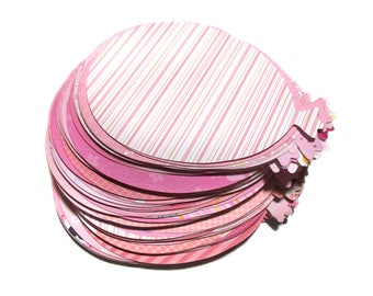 50 Pink Balloon Die Cuts - Baby Girl Card-Making Supplies -Pink Girl Birthday Balloons- Die-cuts for Papercrafting & Scrapbooking - Pink Mix