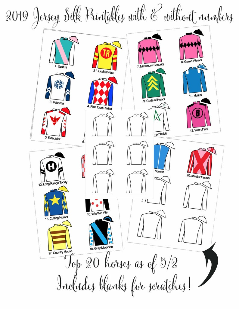 This is a photo of Genius Kentucky Derby Post Positions Printable