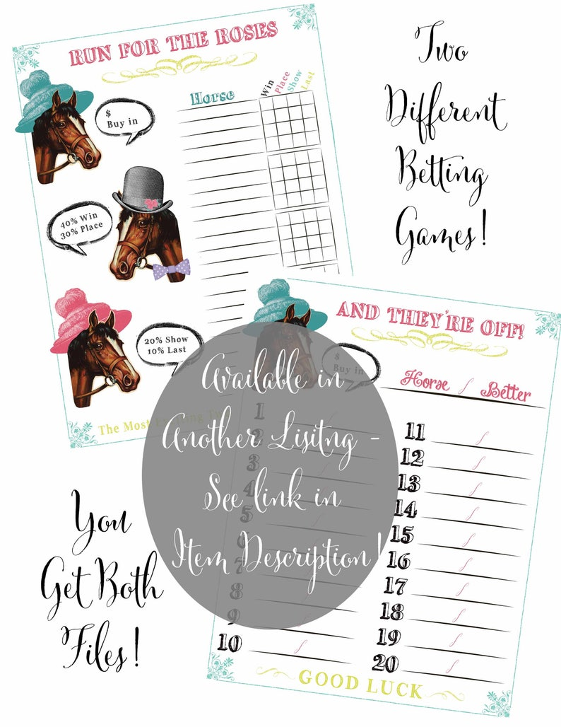 Kentucky Derby Party Invitations with Envelopes or Digital Download available Watercolor style