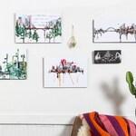 "UB 9"" x 18"" Urban Prints on Wood || Ready to Hang"