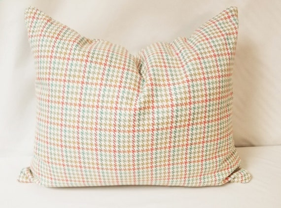 Pastel Houndstooth 16 X 20 Pillow Cover Etsy