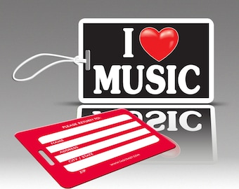 2 iHEART MUSIC Luggage Tags