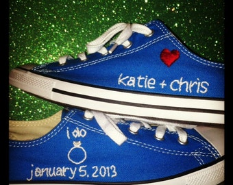 Custom Wedding Sneaker Embroidery (SHOES NOT INCLUDED)
