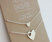 Mother Daughter Bracelet Set - Mother's Day Gift -  Mother of the Bride - wedding gift - gift for mom - for her - for daughter - hearts gift