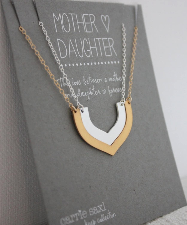 mutter tochter halskette set geschenk f r mama weihnachten etsy. Black Bedroom Furniture Sets. Home Design Ideas