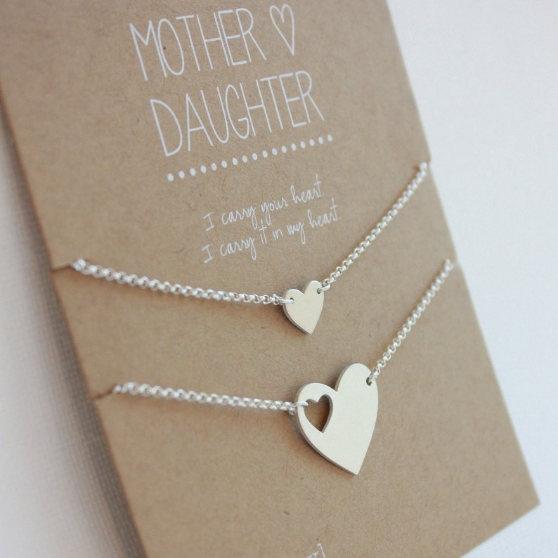 Mother Daughter Bracelet Set  jewelry gift  Mother of the image 0