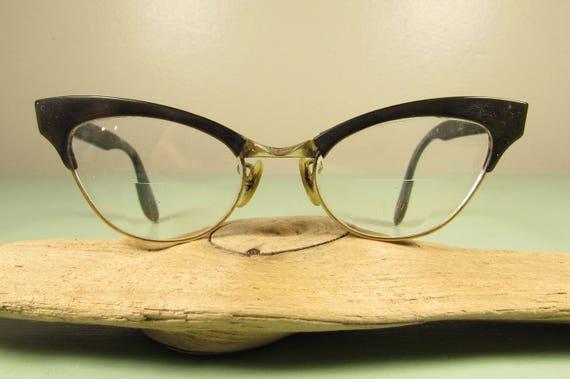 a19f56f010 Cat Eye Eyeglasses Vintage Bausch   Lomb BL Brown Black