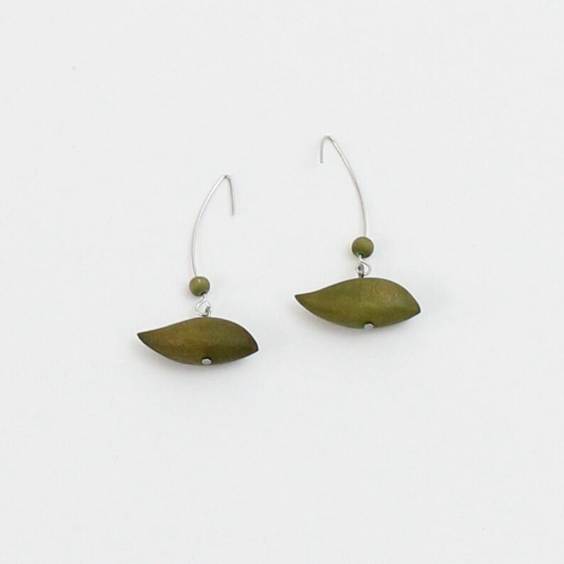 gifts for her gifts under 30 wood earrings bird shape earrings statement earrings sylca earrings Lime statement earrings