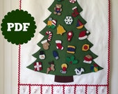 Felt Christmas Tree Pattern.Advent Calendar Pattern Felt Christmas Tree Advent Calendar Christmas Countdown Felt Advent Calendar Pattern Advent Pattern